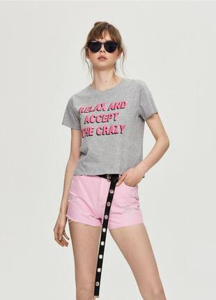 10-31 женская короткая футболка кроп топ sinsay