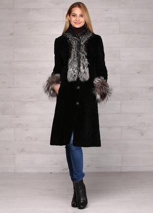 Меховое пальто мега супер цена!