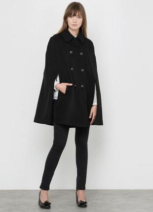 Тренд 2019!шерстяной кейп,пальто,манто,42-44 размер