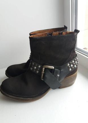 100% кожа. 38 р. ботинки air step крутые ковбойские, казаки. as.98