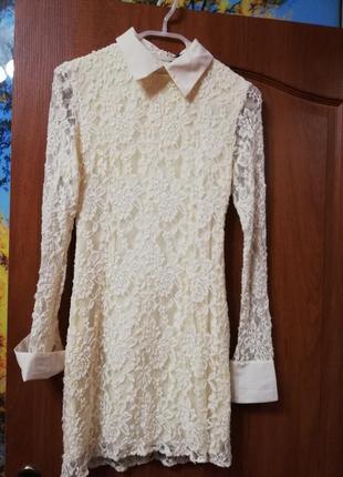 Платье гипюр. очень нежное и красивое.