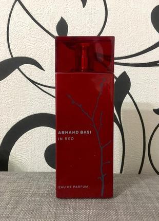 Оригинал armand basi in red eau de parfum 100 мл,