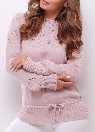Однотонный женский вязаный свитер (20 mrss)