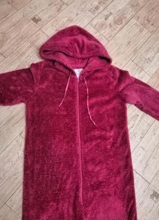 Пижама-слип, кигуруми, домашний слитный костюм, made with love, s, 44