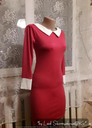 Красное мини платье, размер с-м
