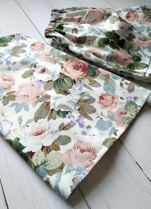 Женская пижама в цветы 100% хлопок3 фото