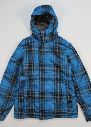 Яркая клетчатая лыжная курточка от protest