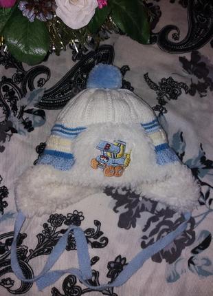 Зимняя шапка на 6-9 м