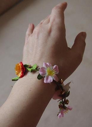Браслет river island цветы на цепочке