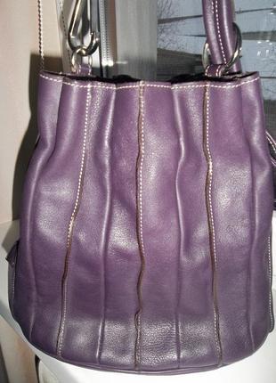 Кожаная сумка кисет, торба, ведро  leder locher оригинал