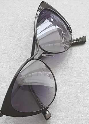 Черные очки-кошки в металлической оправе. бесплатная доставка