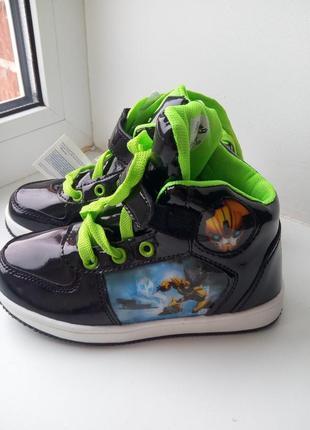 Хайтопы, кроссовки, высокие кеды, ботинки бамблби, трансформеры1
