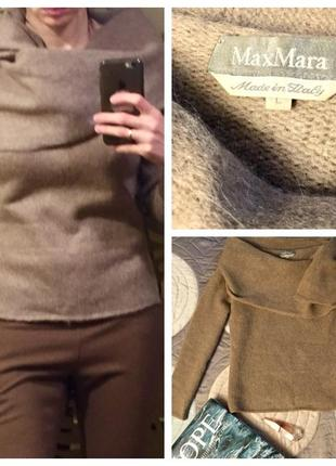 Max mara оригинал m- l шерстяной бежевый, цвет кемел,  свитер