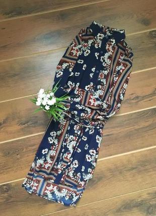 Стильное платье рубашка с длинным рукавом