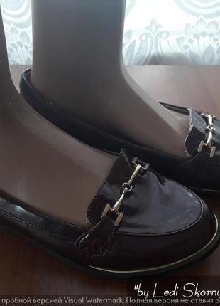 Классные лаковые туфли/балетки/мини-лоферы, размер 39