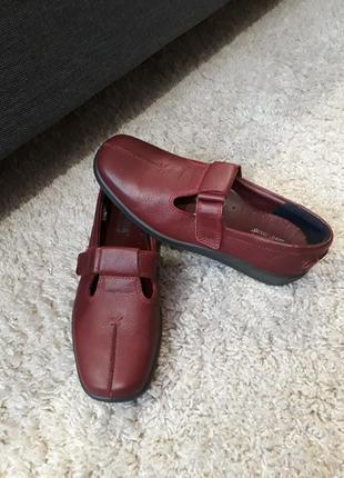 Кожаные туфли мокасины hotter