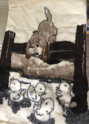 Стильное одеяло  детское шерстяное