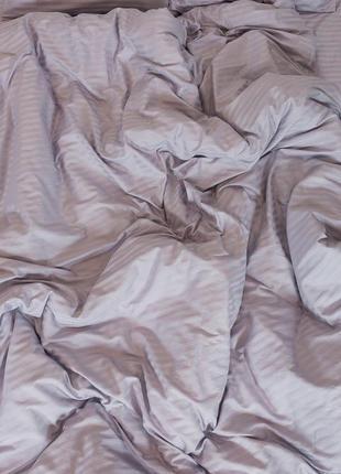 Простынь на резинке из страйп-сатина, 100% хлопок, шана-текстиль