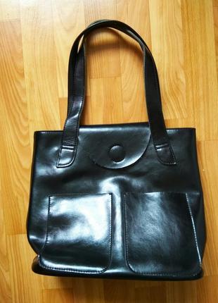 Класична шкіряна сумка