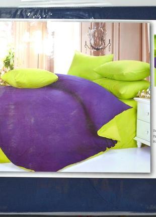 Комплект постельного белья, яркий  дизайн, микс цветов, двуспальный