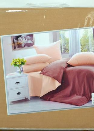 Комплект постельного  белья фланель яркий дизайн, двуспальный, евро