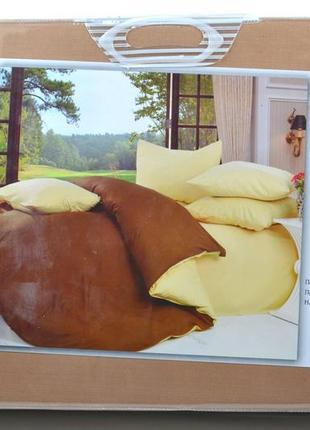 Комплект постельного белья фланель, двуспальный, евро, микс цветов