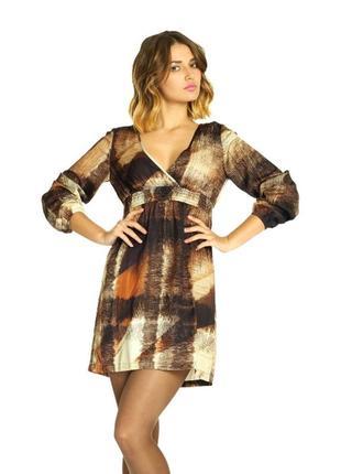 Стильное платье с резинкой на талии бренда sisley