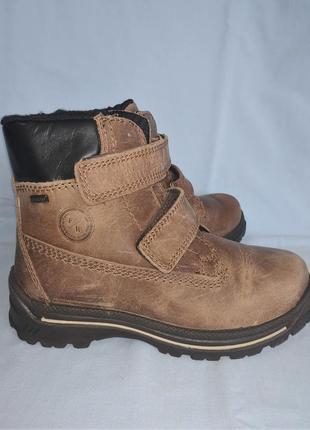 Фирменные ботинки на меху frank walker с мембраной polar-tex р-р 31