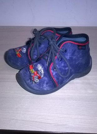 Джинсовые ботинки размер 21 можно на высокий подъем1 фото