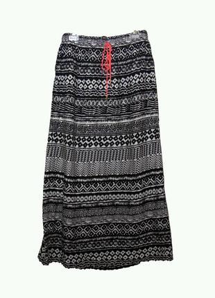 Шикарная легкая летняя юбка в пол