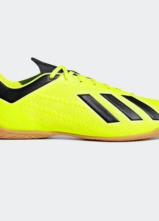 Футзалки adidas x tango 18.4 indoor solaryellow/blk