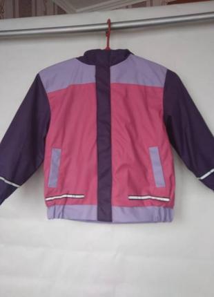 Куртка дождевик kiki&koko на флисе 2-3года 92-98см