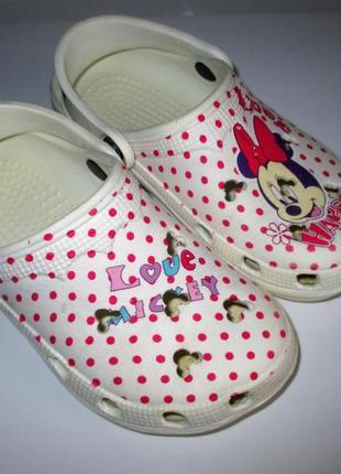Кроксы crocs, пляжная обувь,  стелька  по углублению19 см