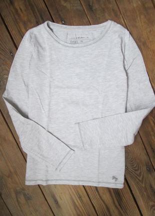 Серый реглан next лонгслив на 10 лет, футболка с длин. рукавом, отличное состояние