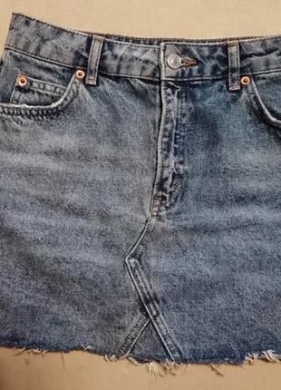 Юбка джинсовая с высокой талией посадкой