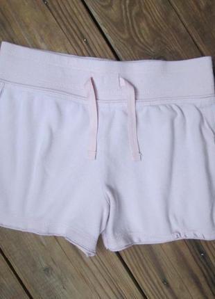 Бледно-розовые трикотажные шорты next на 8 лет, широкая резинка, сост. отличное