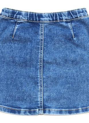 Nutmeg крутая джинсовая юбка на 8-9 лет.3 фото