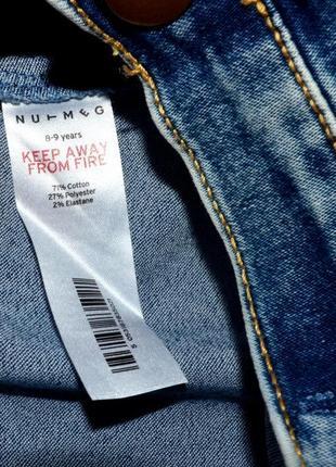 Nutmeg крутая джинсовая юбка на 8-9 лет.4 фото