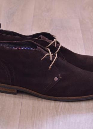 Мужские дезерты туфли натуральная замша оригинал коричневые весна