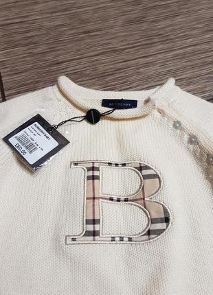 Брендовый, невероятно нежный и качественный джемпер, свитер burberry baby, оригинал!!
