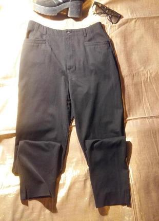 Стильные штаны кежуал карманы разрезы fransa38