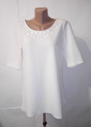Белая неопреновая нарядная блуза anthology uk 12 / 40 /.m