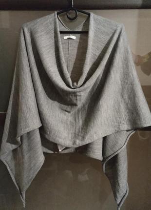 Стильная накидка-шарф пончо  оверсайз