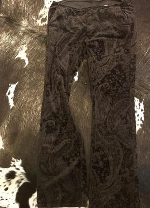 Вельветовые штаны стефанель восточный орнамент