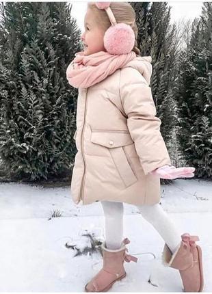 Пуховик зара р. 116 (6 лет) -оригинал, зимняя куртка, очень классный -теплющий!