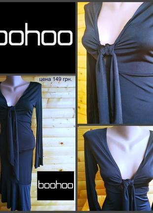 Черное облегающее платье от booho petite, оригинал, р.s, пр-во великобритания