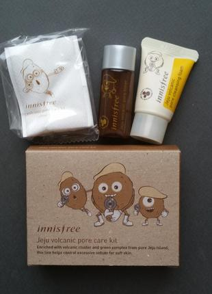 Набор миниатюр для очищения пор innisfree jeju volcanic pore care kit