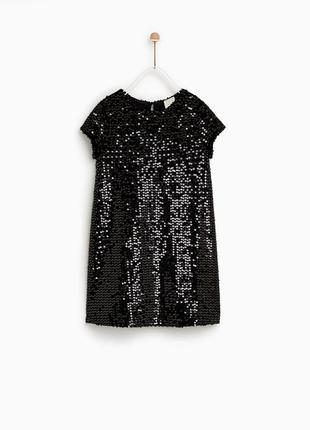 Крутое платье в паетки зара р. 11-12 лет
