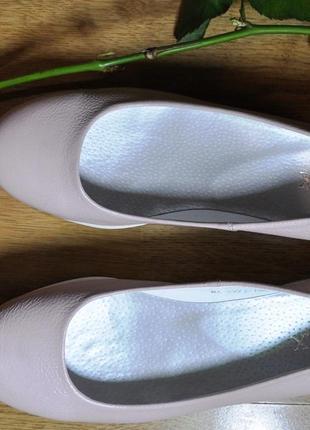 Туфли натуральная кожа пудровые, inmax