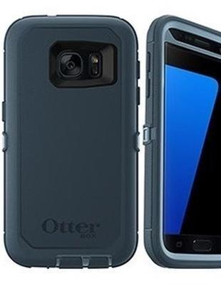 Чехол otterbox defender для samsung s6 s7 с клипсой и протектором экрана